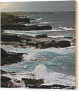 A Dangerous Coastline Wood Print