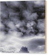 A Dark Heaven's Storm Wood Print