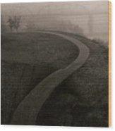 A Dark Widing Road Wood Print