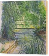 A Day At Giverny Wood Print