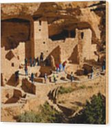 A Day At Mesa Verde Wood Print