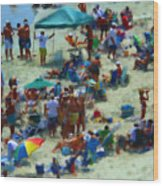A Day At The Beach Wood Print by Jeff Breiman