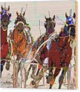 A Day At The Races 2 Wood Print