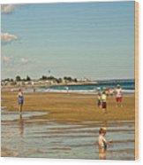 A Day At Wells Beach Wood Print