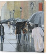 A day for umbrellas Wood Print