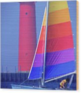 A Day Of Sailing Wood Print