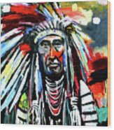 A Decorated Chief 1 Wood Print