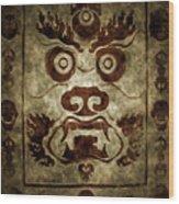 A Demonic Face Wood Print