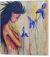 A Different Kind Of Blue Wood Print