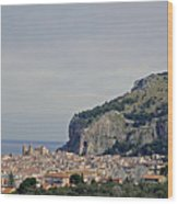 A Distant View Cefalu Sicily Wood Print