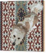 A Dog In On A Rug Wood Print