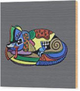 A Dog Named Picasso T-shirt Wood Print