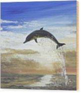 A Dolphin's Life Wood Print