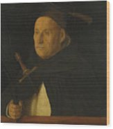 A Dominican With The Attributes Of Saint Peter Martyr Wood Print