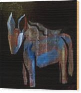 A Donkey Named Frog Wood Print