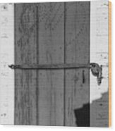 A Door With Character Wood Print