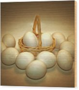 A Dozen Eggs II Wood Print