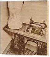 A Dressmakers Corner Wood Print