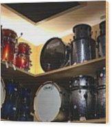 A Drummer's Dream Wood Print