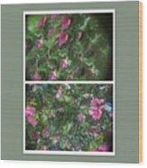 A Drunken Worms View Of A  Flower  Wood Print