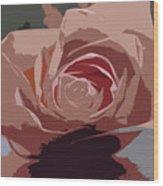 A Dusty Rose-d Wood Print