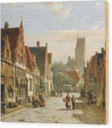 A Dutch Street In Summer Wood Print
