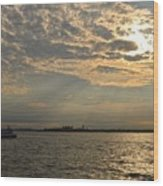 A Evening With Hudson River Wood Print