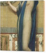 A Fair Reflection Wood Print by John William Godward