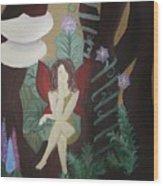 A Fairy's Sigh Wood Print