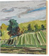 A Fall Day In The Townships Wood Print