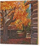 A Fall Day Wood Print
