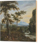 A Fantastic Countryside Around Rome Wood Print