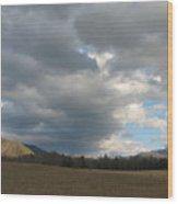 A Far View Wood Print