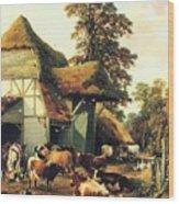 A Farm In Kent Wood Print