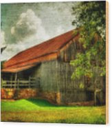 A Farm-picture Wood Print