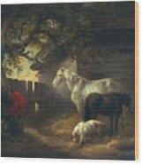 A Farmyard Wood Print by George Morland