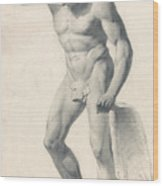 A Faun With Pipes Wood Print