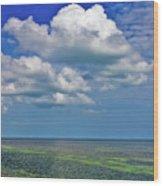 A Few Clouds In Keywest Wood Print