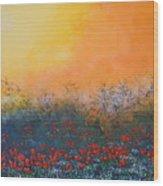A Field In Bloom Wood Print