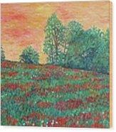 Field Of Beauty Wood Print