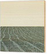 A Field Stitched Wood Print