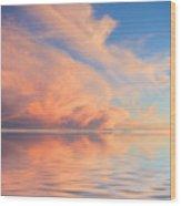 A Fiery Horizon Wood Print