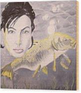 A Fish Named Angelina Wood Print by Joseph Palotas