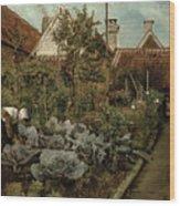 A Flemish Garden Wood Print