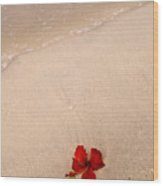 A Flower And The Sea Wood Print
