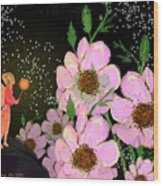 A Flower Fairy Wood Print