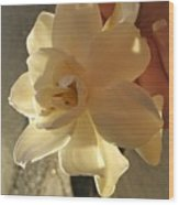 A Flower In Hand Beats.... Wood Print