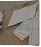 A Forgotten Text Wood Print
