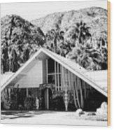 A Frame Bw Palm Springs Wood Print