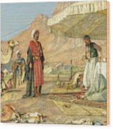 A Frank Encampment In The Desert Of Mount Sinai 1842 Wood Print